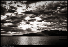 Subic Bay Cloudy Sunset (Philip Gann Photography) Tags: sunset blackandwhite bw clouds philippines subicbay canoneos5dmarkii hongkongphotographer silverefexpro2 lightroom33 philipgann philipgannphotography