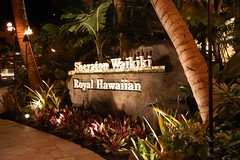 Sheraton Waikiki / Royal Hawaiian (Shaboo-Shaboo) Tags: sign hawaii hotel nikon waikiki sheraton royalhawaiian honolulufestival d40