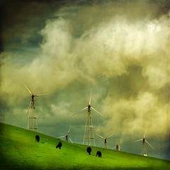 clouds (fuzzy jr) Tags: windmills textured orton altamont