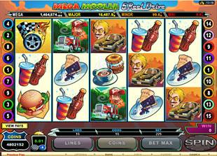 Mega Moolah 5 Reel Drive slot game online review