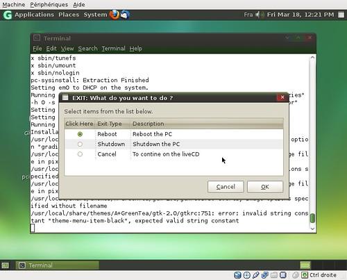 GhostBSD 2.0 : fin d'installation