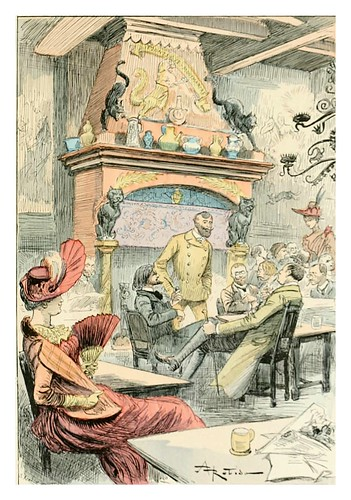 029-Cabaret artistico-Le 19e siècle 1888- Albert Robida