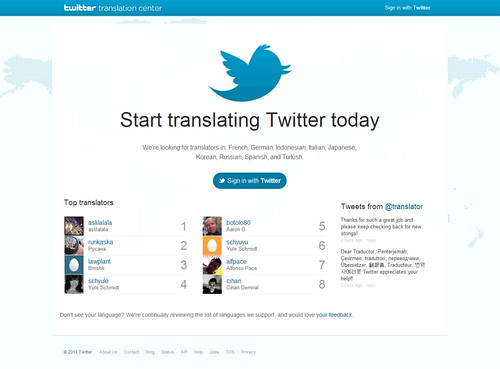 Twitter Translation Center