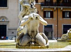 Triton - Fontana del Moro - Piazza Navona - Rome - July 2016 b1 (litlesam1) Tags: italy rome soloromejuly2016 july2016 fountains