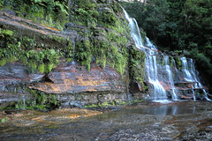 Blue Mountains - Katoomba Falls (lukedrich_photography) Tags: australia oz commonwealth أستراليا 澳大利亚 澳大利亞 ऑस्ट्रेलिया オーストラリア 호주 австралия newsouthwales nsw blue mountains region jamisonvalley scenic nature katoomba water fall waterfall rock wet forest canon t6i canont6i history culture