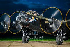 5043_Lancaster (Rob Ferrol) Tags: lancaster bomber aircraft historic iconic heavy wwii world war two royal air force raf command east kirkby lincolnshire airfield night moody atmospheric evening dusk rob ferrol copyright photographer worksop notts nottinghamshire merlin engines four restoration period bird