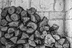 Mesquite (Woodlands Photog) Tags: firewood fireplace mesquite texas hillcountry hill country bw monochrome black white