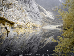 Obersee (Pixeleater) Tags: 2016 bavaria bayern infrared infrarot knigssee september