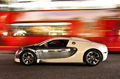 Back in Town. (Alex Penfold) Tags: camera light london cars alex sports car night canon dark photography photo cool long exposure shot image awesome cream picture trails fast super spot arabic exotic chrome photograph arab bugatti supercar spotting numberplate exotica centenaire supercars  veyron  penfold   spotter 2011       450d     hpyer