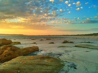 Boat Harbour north of Cronulla NSW Australia, Sunset #iPhoneography