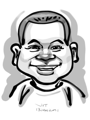 Ipad digital caricature live sketching for AES Sports Showdown - 8