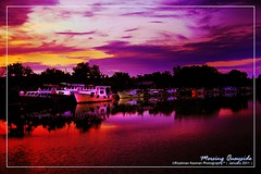 Golden Dawn at Mersing Quayside 1 ( Rizalman Kasman Photography) Tags: sunset sky beautiful dawn golden ships 1001nights flickraward platinumheartaward 1001nightsmagiccity mersing quayside