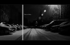 Time to sleep (byLinski) Tags: park street morning winter light snow cars lamp lines car night early tim snowy parking january line midnight slot januar eyecatcher 2011 bielinski timbielinski