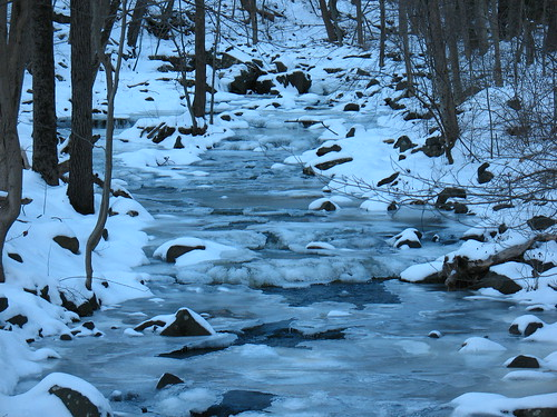 Rock Brook in ice