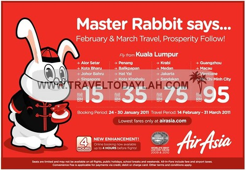 Air Asia Flight Promotion Fly from Kuala Lumpur
