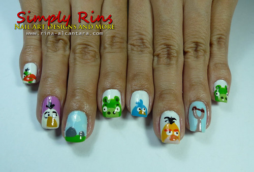 Nail Art Angry Birds 01
