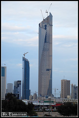 Al-Hamra Tower-- 19th, January, 2011 (Thamerium) Tags: towers kuwait underconstruction modernarchitecture kuwaitcity arabiangulf tallbuildings    alhamratower sharqskyline   25thand26thfebruarytowers khaleejiyahtower
