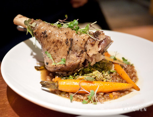 Braised Lamb Shank from Garden at the Cellar