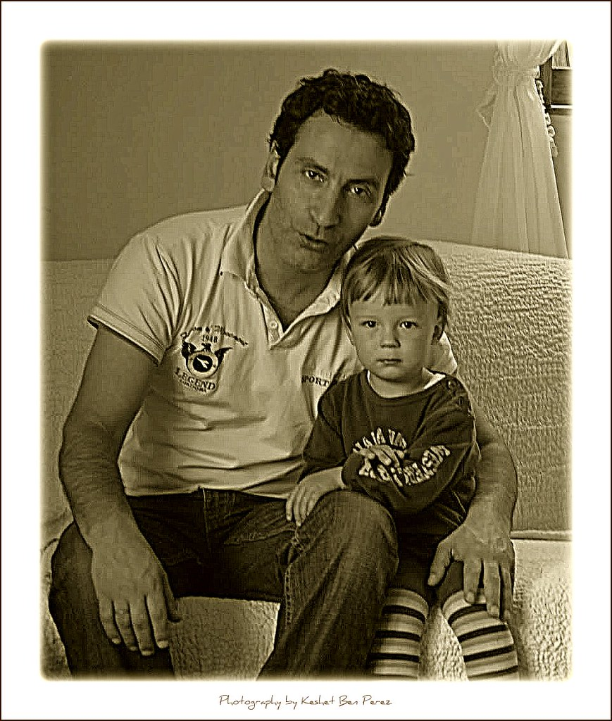 Me and Dan (The first professional photo by my daughter Keshet Ben Perez,7 years old)