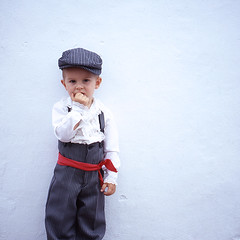 dress shirt* (miki**) Tags: boy red 120 shirt dress dressedup hola goodboy frigiliana southspain rolleiflex35f
