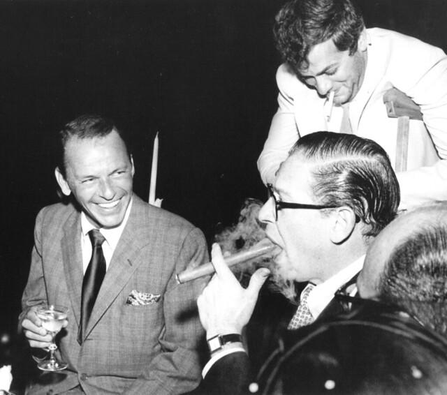 Frank Sinatra, Tony Curtis and Milton Berle