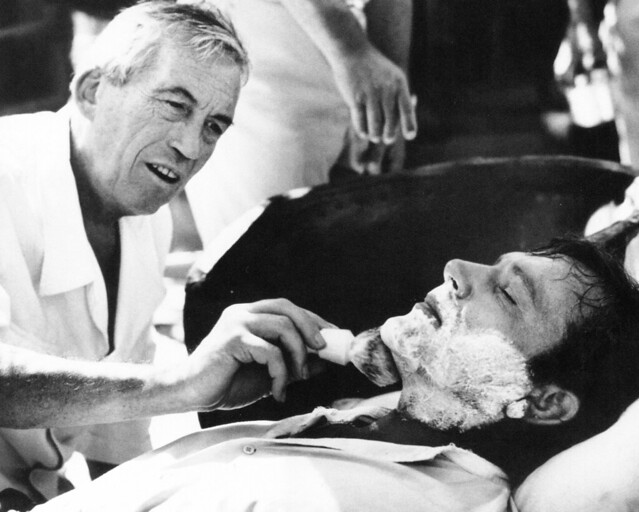 John Huston and Richard Burton