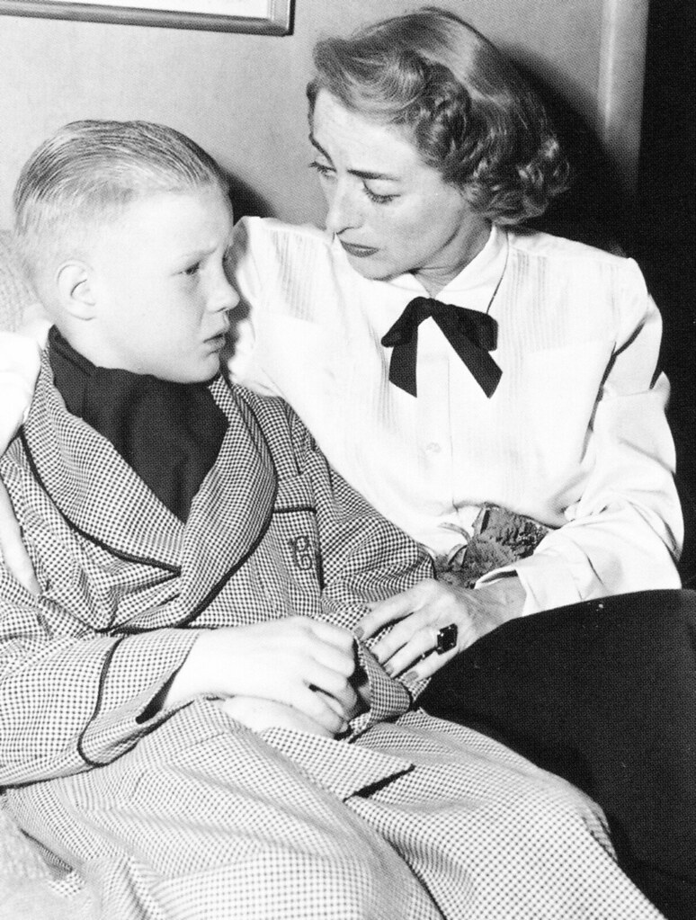 Joan Crawford and her son