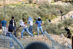 Bil'in Riot, Jan 2011 (Israel Defense Forces) Tags: army israel riot rocks westbank military israeli bilin idf pliers palestinians firebomb palestinian securityfence borderpolice civilians rioters israeldefenseforces judeaandsamaria hurlingrocks