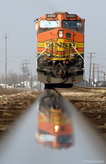 Ending Reflection (Patrick Dirden) Tags: california railroad reflection northerncalifornia train rail locomotive riverbank ge bnsf centralvalley sanjoaquinvalley freighttrain burlingtonnorthernsantafe stanislauscounty c449w burlingtonnorthernsantaferailroad riverbankca bnsf4300 bnsfstocktonsub