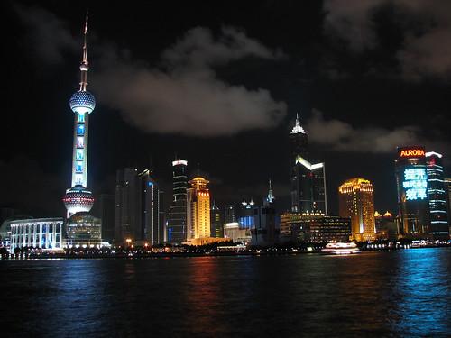 Shanghai El Bund de noche