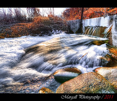 The irrigation canal - HDR - River park -Cuneo - Italy - (Margall photography) Tags: park italy parco water river canal rocks long exposure italia exposition pietre marco a