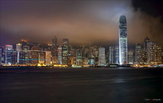 Hong Kong Nights (Clayton Perry Photoworks) Tags: skyline night reflections hongkong asia hdr