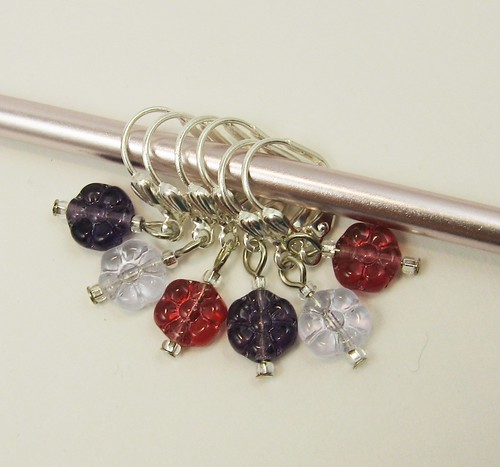 Czech flower bead stitch markers