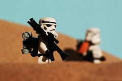 """Why do i have to carry the T-21 !"" (Blockaderunner) Tags: star lego stormtrooper wars tatooine sandtrooper"