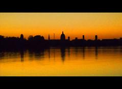 Mantova Skyline (Skreamiz) Tags: sunset lake fish colors skyline river landscape lago boat fisherman barca tramonto fiume lakes mantova fisher colori navigation paesaggio pescatore angler mincio pelosa pescare laghi navigazione rivermincio
