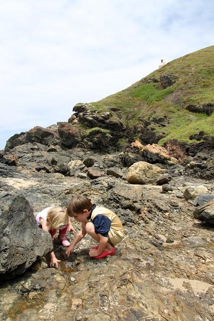 Rock pools at Tacking Point