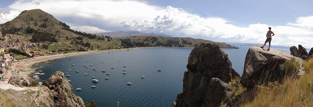 Wendy Conquering in Copacabana at Lake Titicaca