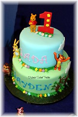 Pooh and friends - twins first birthday (Diane Burke - moving to ipernity) Tags: tigger roo fondant firstbirthdaycake winniethepoohandfriends dianessweettreats dianeburke cakefortwins