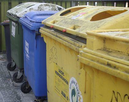 Bekannte Farben von Mülltonnen (Berlin)