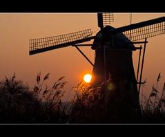 Sunset (Focusje (tammostrijker.photodeck.com)) Tags: sunset sun holland mill netherlands windmill dutch kinderdijk
