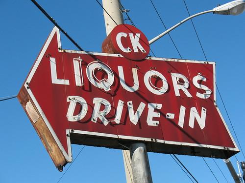 CK Liquors Ghost Neon Sign Jacksonville FL