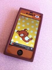嫁さんのiPhone(リラクマ仕様)