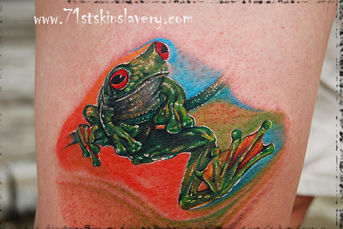 green tree frog tattoo