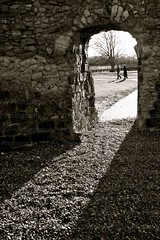 Priory Arch (GFry Photography) Tags: door light tree history sunshine stone composition contrast private couple arch technical framing lewesblackandwhitegfryphotography