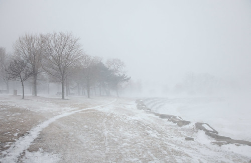 The Blizzard Hits Promontory Point