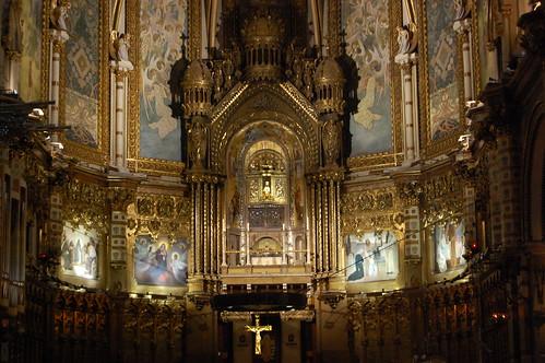 Interior of Santa Maria de Montserrat, Benedictine Abbey
