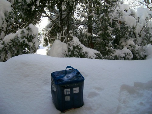 The snowdrift on my patio.