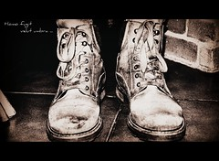 These Boots Are Made for Walkin' (dClaudio [homofugit]) Tags: bw walking boot shoe shoes boots inside sinatra thesebootsaremadeforwalkin mygearandme mygearandmepremium