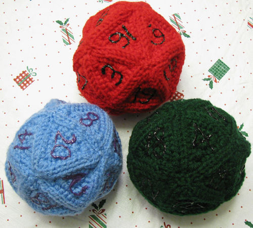 Crocheted D20s