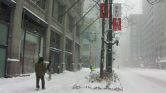 Snowmaggedon, 2011 (movie clip) (rwchicago) Tags: morning winter urban chicago streets movie subway video workers downtown cta loop snowstorm clip pedestrians macys rushhour shovel marshallfields quicktime xacti time:hour=10am